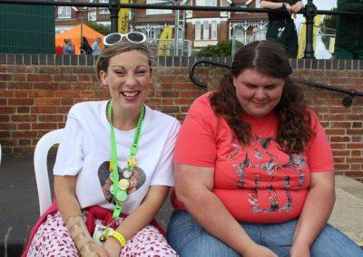 Big smiles at Folk Week