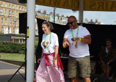 Zoe & Peter at Folk Week 2021