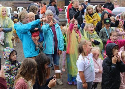 Fun in the rain at Folk Week